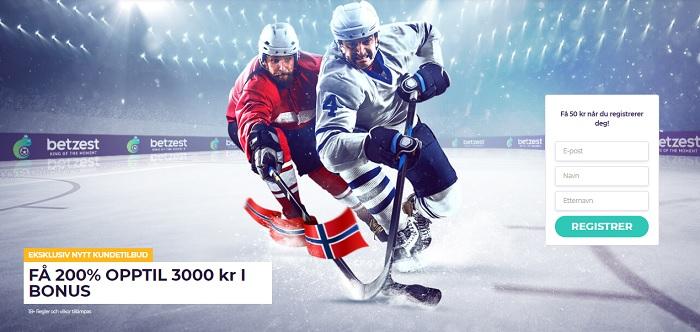 Betzest oddsbonus 200% opptil 3000 kr i Norge