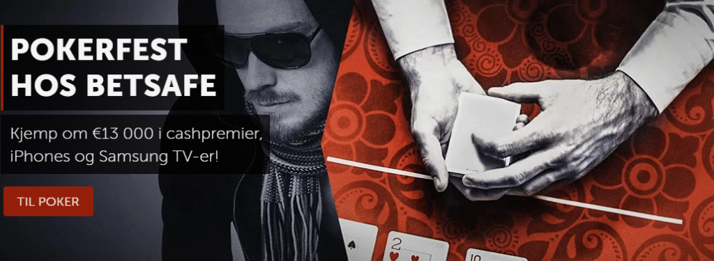 Pokerfest hos Betsafe i april og mai 2020.