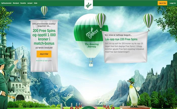 Mr Green casinobonus Norge