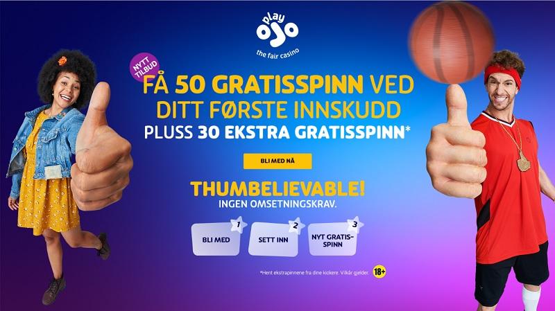 Playojo casinobonus Norge