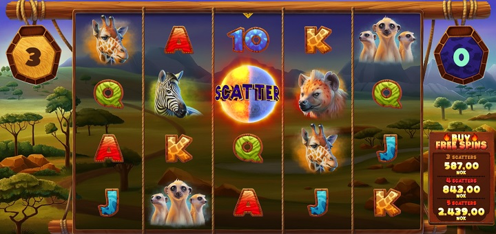 Nye spilleautomaten Serengeti Kings på Betsson